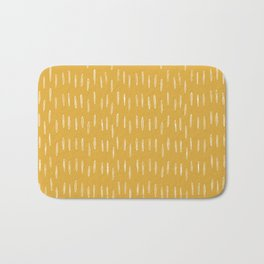 Raindrop Abstract Boho Pattern, Yellow Bath Mat
