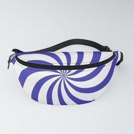 Spiral (Navy & White Pattern) Fanny Pack