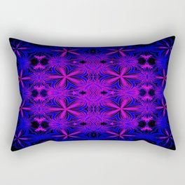 Fuchsia & Blue Floral Rectangular Pillow