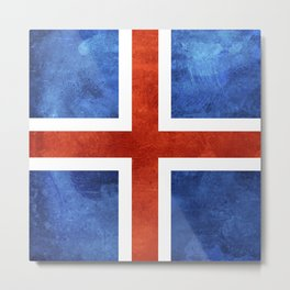 Icelandic Flag Metal Print