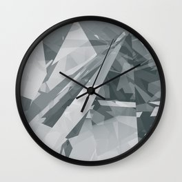 Ice cracks #2 Wall Clock