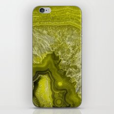 Green pantone agate mineral gem stone- Beautiful backdrop iPhone & iPod Skin