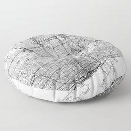 Toronto White Map Floor Pillow