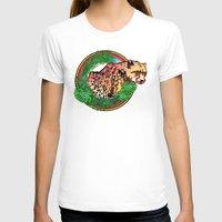 leopard T-shirts featuring leopard by Elena Trupak