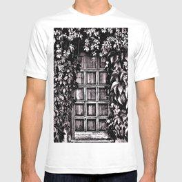 Black White Old Door T-shirt