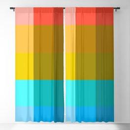 Multicolor Pixel Patchwork Blackout Curtain
