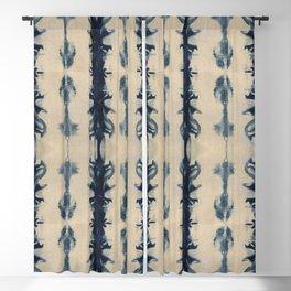 Shibori Flowers Blackout Curtain