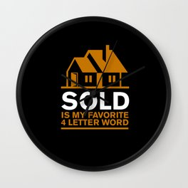 Real Estate Agent Wall Clock
