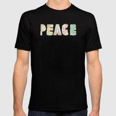 peace 3 Mens Fitted Tee Black MEDIUM