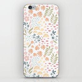 Pattern flowers iPhone Skin