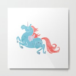 Unicorn Pegasus Metal Print