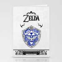 majora Stationery Cards featuring Zelda legend - Hylian shield by Art & Be