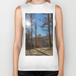 A beautiful day in the woods Biker Tank