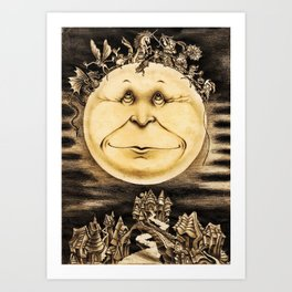 Mind Of The Moon Art Print
