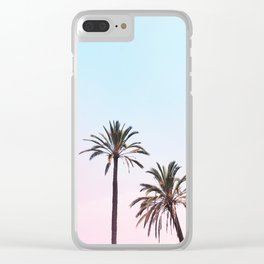 162. Double Palm Tree, Rome Clear iPhone Case