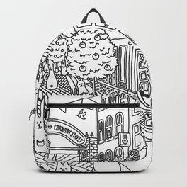Bunnies in London Carnaby Street - Line Art Backpack