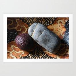 Avocado and Stone Art Print