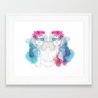 glasses Framed Art Prints featuring Glasses by Camis Gray