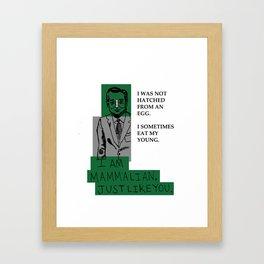 I AM MAMMALIAN Framed Art Print