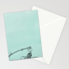 skeleton in halasana Stationery Cards
