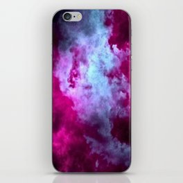 Tumultuous in violet and blue iPhone Skin