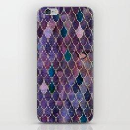 Mermaid Dark Purple iPhone Skin