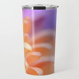 Flower Sunrise   cute pastel flower, peach flowers, orange floral pattern, pretty petals, macro Travel Mug