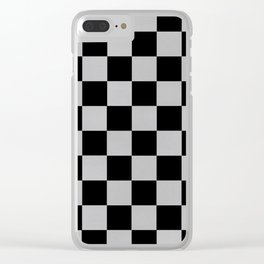 Checkered Past Clear iPhone Case