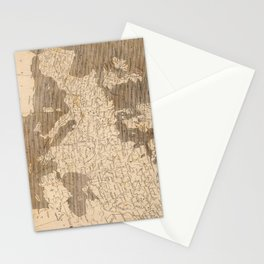 Vintage Map of Europe (1804) Stationery Cards
