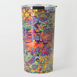 Modern Fractal Abstract 28: Broken Symmetries Travel Mug