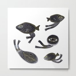 underwater surreal creatures Metal Print