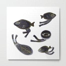 underwater surreal creatures Metal Print