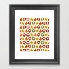 mario items pattern Framed Art Print