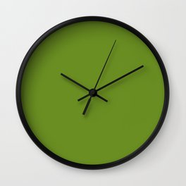 color olive drab Wall Clock