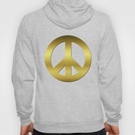 Golden CND Peace Symbol Hoody