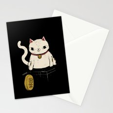 actual lucky cat Stationery Cards