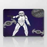 storm trooper iPad Cases featuring storm trooper by Agentsassy