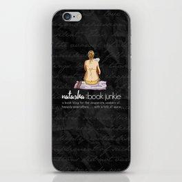 Natasha is a Book Junkie (logo) on script iPhone Skin