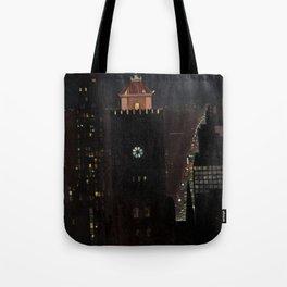 New York City Night Skyline landscape by Georgia O'Keeffe Tote Bag