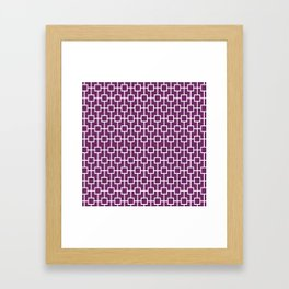 Byzantium Purple Lattice Pattern Framed Art Print
