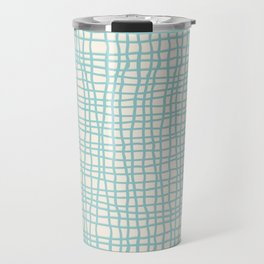 Blue Scribbles Pattern 06 Travel Mug