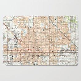 Vintage Map of Phoenix Arizona (1952) Cutting Board