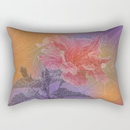 zen pattern hibiscus Rectangular Pillow
