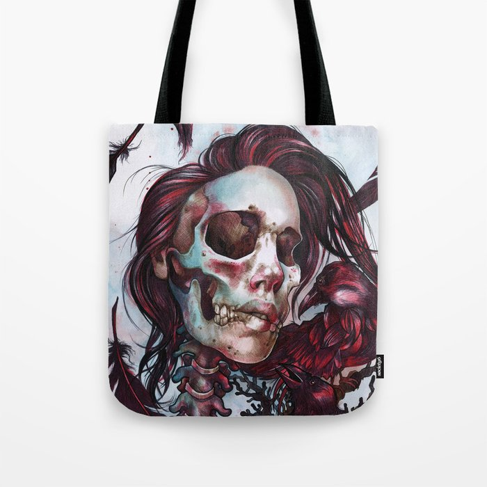 Queen of Ravens Tote Bag
