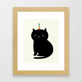 Caticorn Framed Art Print
