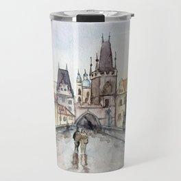 After the Rain Prague Charles Bridge Travel Mug