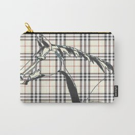 """Equine Plaid"" Carry-All Pouch"