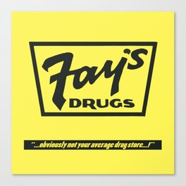 Fay's Drugs   the Immortal Yellow Bag Canvas Print