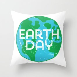 Cute Earth Day product Throw Pillow