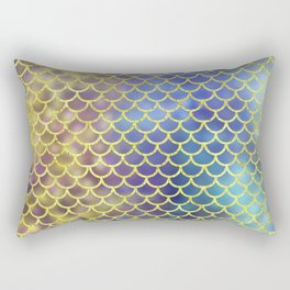 Rainbow Mermaid Scales Pattern Rectangular Pillow